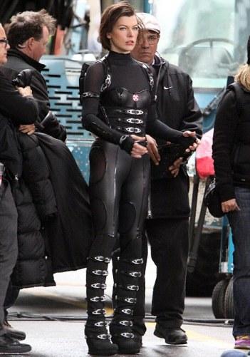 Exclusive - 'Resident Evil: Retribution' Film Set