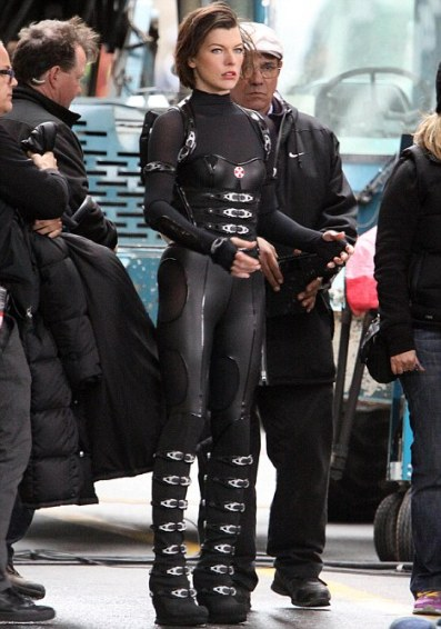 Exclusive - 'Resident Evil: Retribution' Film Set