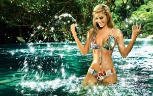 Colombian Model Lina Posada Mystical Down By The River 005