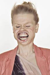 A Hilarious Disturbing Video of People Being Blasted in the Face with Wind by Tadao Cern - 015