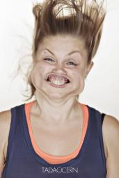 A Hilarious Disturbing Video of People Being Blasted in the Face with Wind by Tadao Cern - 017