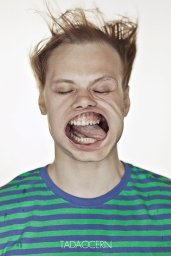 A Hilarious Disturbing Video of People Being Blasted in the Face with Wind by Tadao Cern - 023