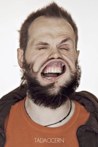 A Hilarious Disturbing Video of People Being Blasted in the Face with Wind by Tadao Cern - 026