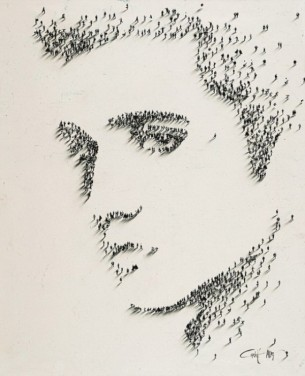 Amazing Portraits Using People by Alan Craig - 003 Elvis