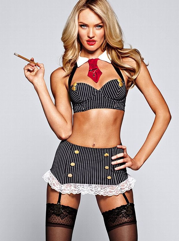 Candice Swanapoel Plays Dress Up For Victoria's Secret Photos - 002