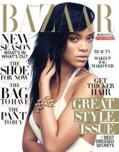 Rihanna Covers Harper's Bazaar August 2012 Photos Cover