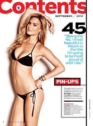 Bar Refaeli Hot in Maxim Magazine September 2012 Photos - 002