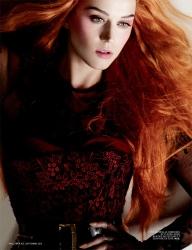 Katy Perry Goes Orange For L'Officiel September 2012 - 004