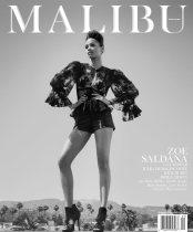 Zoe Saldana Sexy in the September Malibu Magazine by Mark Squires Photos - 001