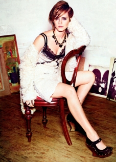 Emma Watson Glamour Magazine October 2012 [Photos] - 002