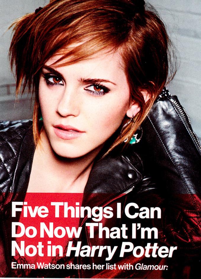 Emma Watson Glamour Magazine October 2012 [Photos]