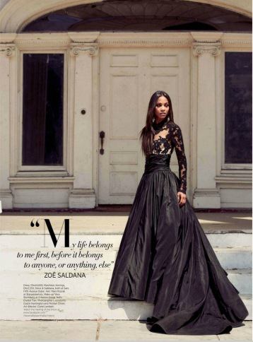 Zoe Saldana Harper's Bazaar Arabia September 2012 [Photos] - 002