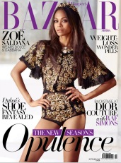 Zoe Saldana Harper's Bazaar Arabia September 2012 [Photos] - 003