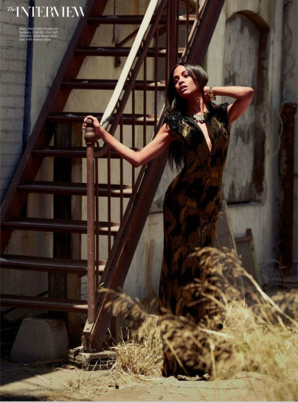 Zoe Saldana Harper's Bazaar Arabia September 2012 [Photos] - 007