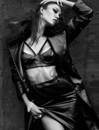 Karlie Kloss is Sexy in Latex and Leather for Numéro 137 by Greg Kadel [Photos] 006