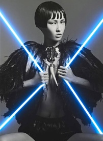 Wang Xiao Lights Up for Harper's Bazaar China Art 2012 [Photos] 001