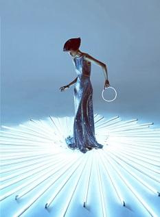 Wang Xiao Lights Up for Harper's Bazaar China Art 2012 [Photos] 013