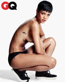 Rihanna Almost Naked for GQ USA December 2012 [Photos] 01
