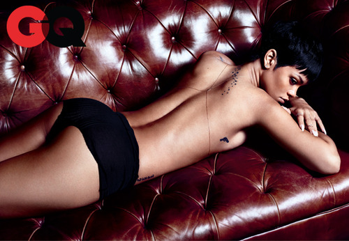 Rihanna Almost Naked for GQ USA December 2012 [Photos] 06