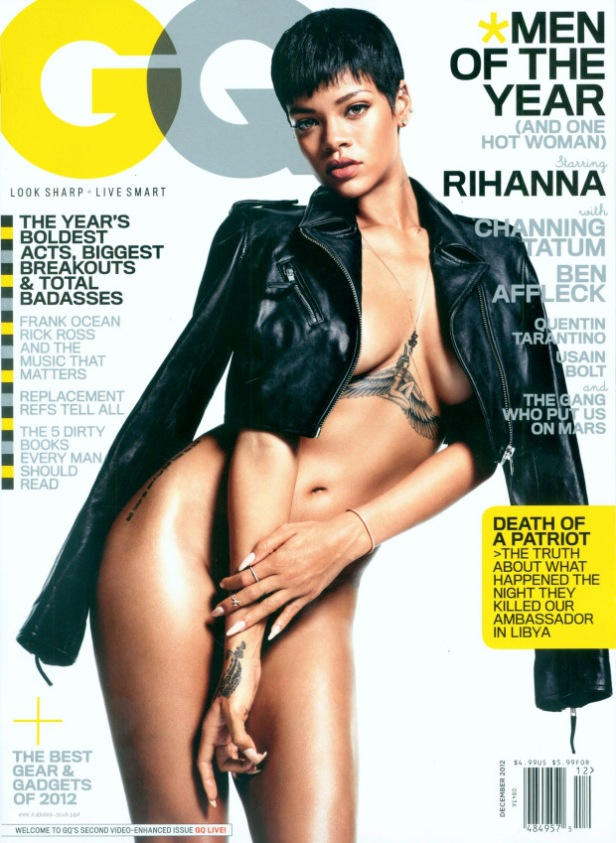 Rihanna Almost Naked for GQ USA December 2012 [Photos] 07