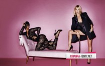 Rihanna and Kate Moss Go Topless for Mario Testino's V Magazine Shoot 002