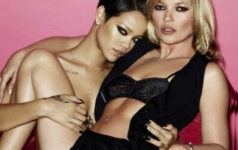 Rihanna and Kate Moss Go Topless for Mario Testino's V Magazine Shoot 004