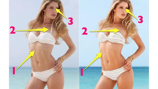 Victoria's Secret Revealed: Unretouched vs. Retouched ...  Victoria's Se...