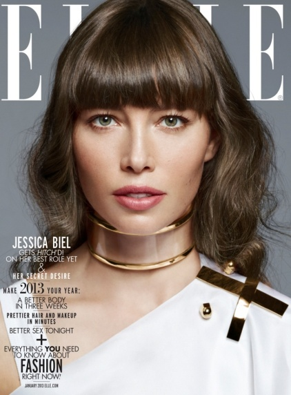 Jessica Biel by Thomas Whiteside for Elle US, January 2013 [Photos] 010