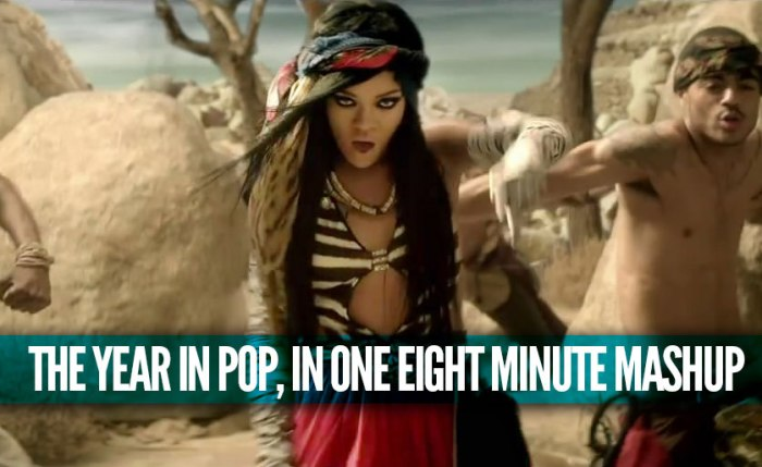 The Year In Pop, In One Eight Minute Mashup [Music]