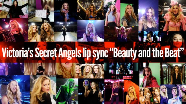 """VICTORIA'S SECRET ANGELS LIP SYNC TO JUSTIN BIEBER'S """"BEAUTY AND THE BEAT"""" [MUSIC VIDEO]"""