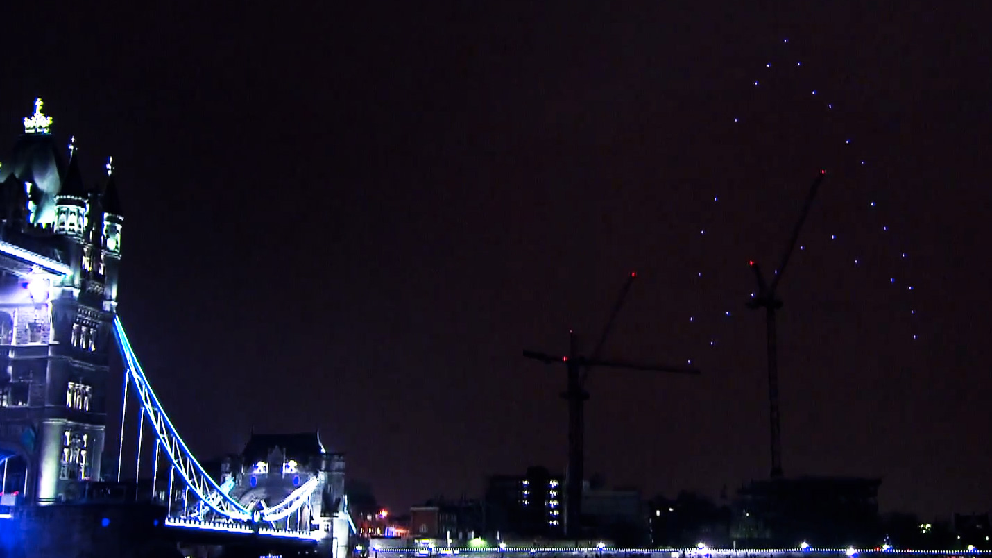 Giant, Glowing 'Star Trek' Logo over London [Movies]