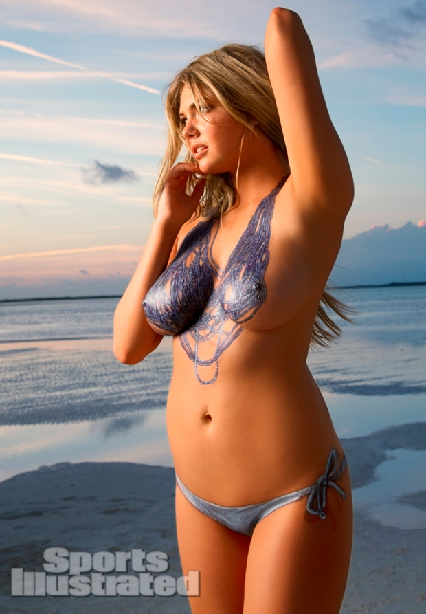 Kate Upton Naked Body Paint Photos 2013 [Photos] 07