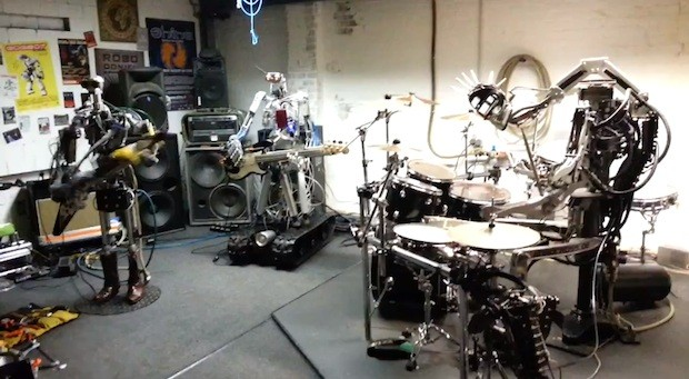 Robots taking over the World Compressorhead perform Ace of Spades