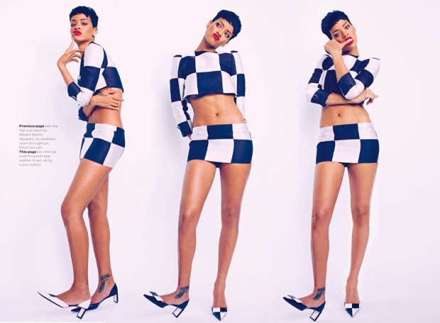Sexy Rihanna Covers ELLE UK Magazine April 2013 [Photos] 01