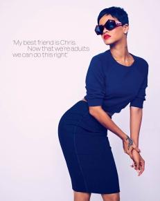 Sexy Rihanna Covers ELLE UK Magazine April 2013 [Photos] 05