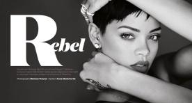 Sexy Rihanna Covers ELLE UK Magazine April 2013 [Photos] 13