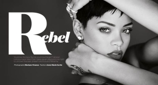 Sexy Rihanna Covers ELLE UK Magazine April 2013 [Photos] 13
