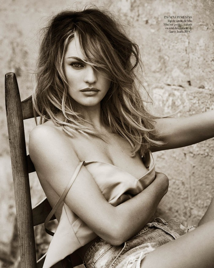 Candice Swanepoel in Sexy Denim for Vogue Spain April 2013 [Photos] 09