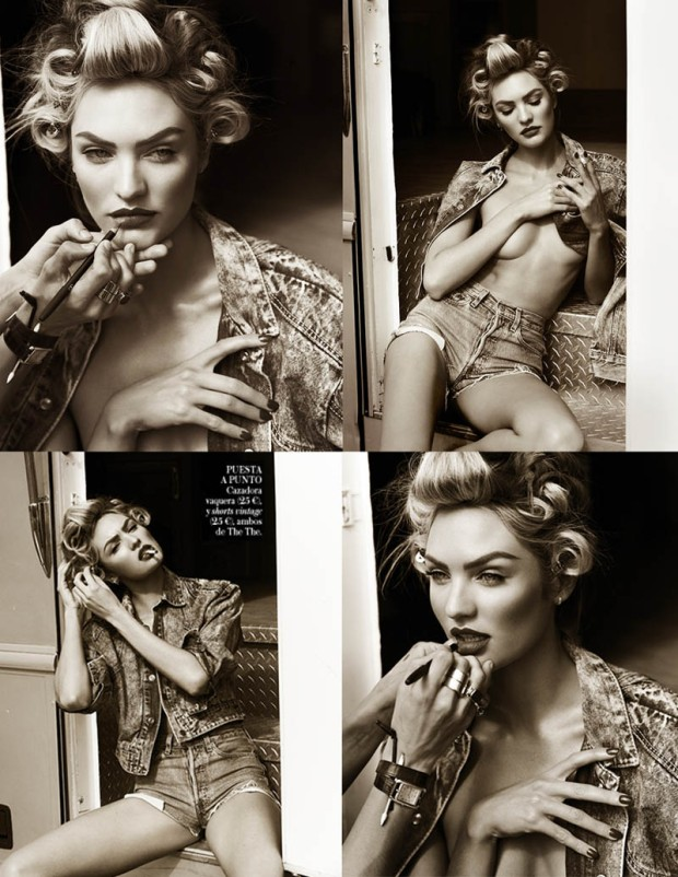 Candice Swanepoel in Sexy Denim for Vogue Spain April 2013 [Photos] 13