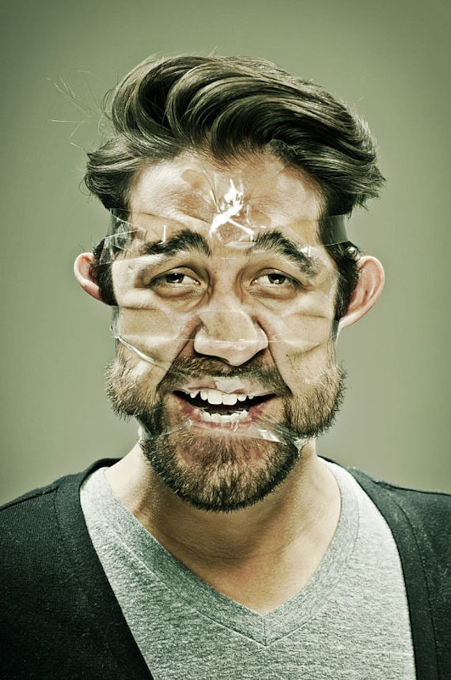 Scotch Taped Faces [Photography] 01