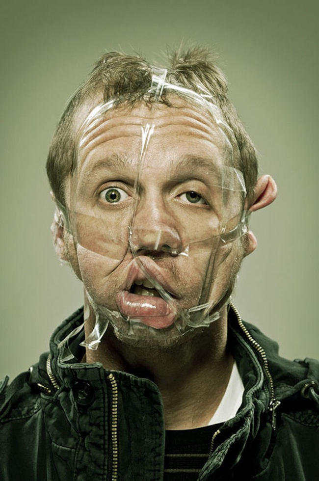 Scotch Taped Faces [Photography] 04