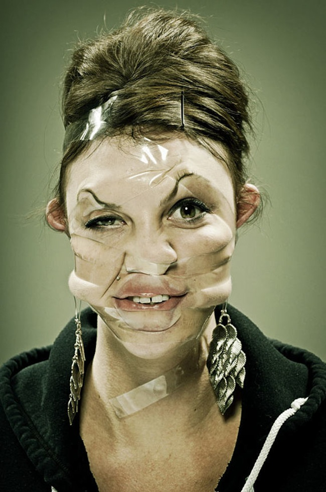 Scotch Taped Faces [Photography] 06