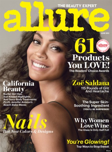 Star Trek's Zoe Saldana – Allure Magazine Photoshoot June 2013 [Photos:Video] 03