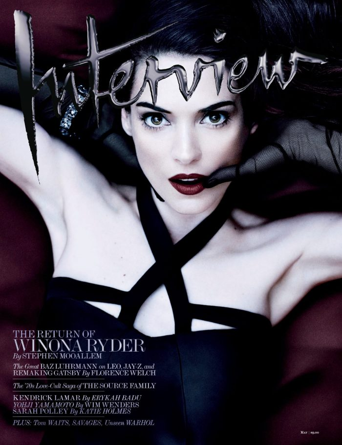 Winona Ryder's Dark side for Interview Magazine May 2013 [Photos] 01