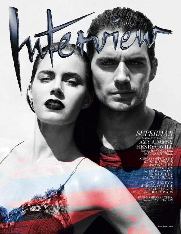 Interview-Magazine-JuneJuly-2013--Amy-Adams-&-Henry-Cavill-[Photos]-cover