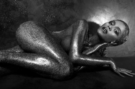 Beyonce Sparkles naked for Flaunt Magazine - 03
