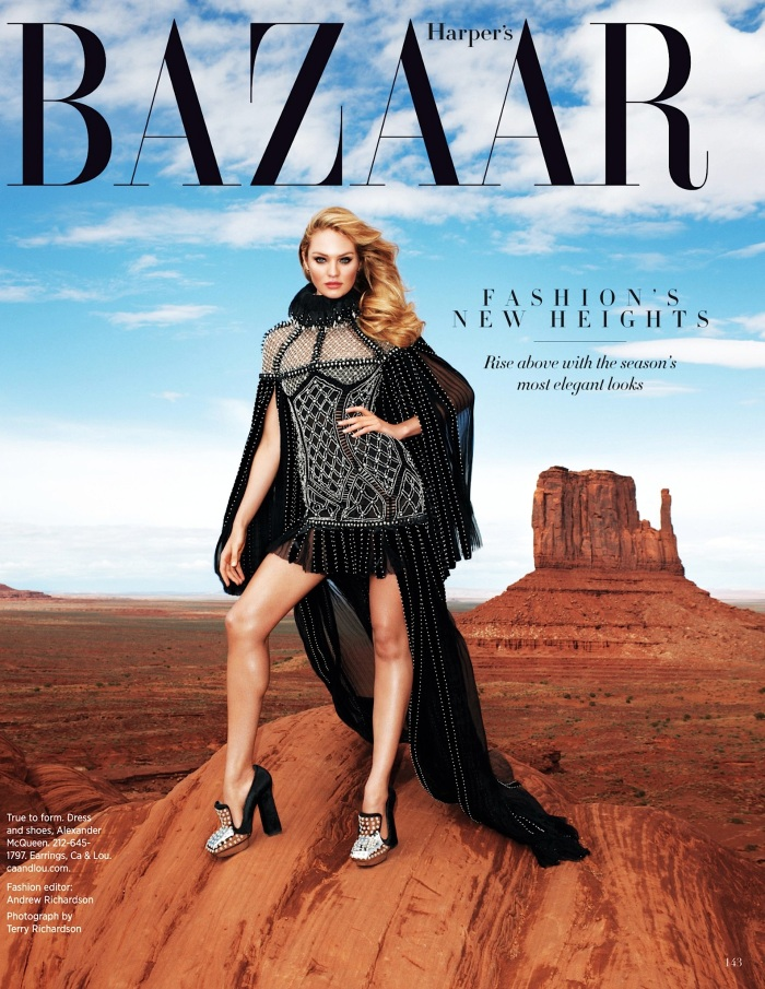 Candice Swanepoel for Harper's Bazaar August 2013 by Terry Richardson 11