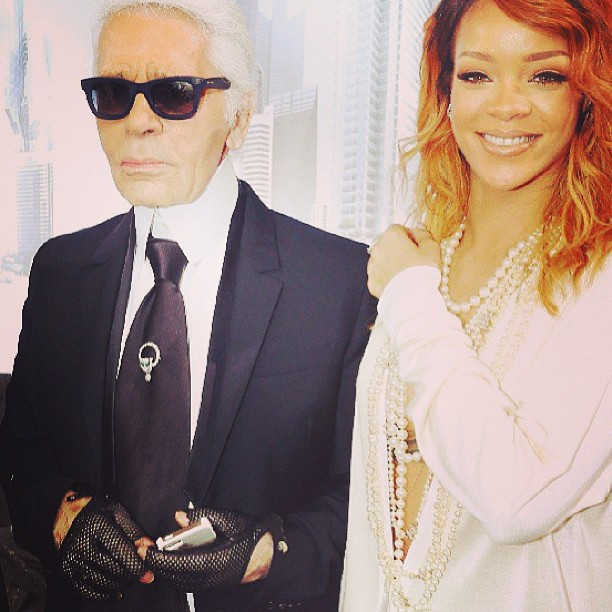 Rihanna at the Chanel Couture show in Paris 06