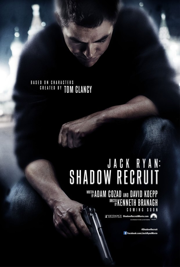 First trailer for Jack Ryan Shadow Recruit starring Chris Pine poster
