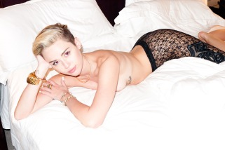 Miley Cyrus Goes Completely Topless In Controversial Naked Photoshoot-02